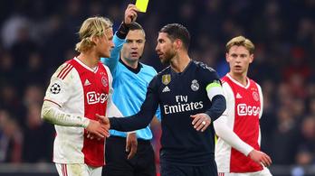 Nem jött be Ramos trükkje, kétmeccses eltiltást kapott a BL-ben