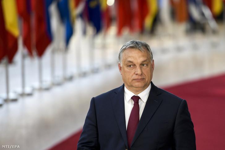 Orbán Viktor Brüsszelben 2018. június 6-án