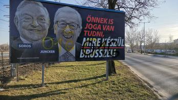 Március 15. után leszedik a Soros-Juncker plakátokat