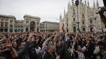 Kétszázezren tüntettek Milánóban a kirekesztés ellen