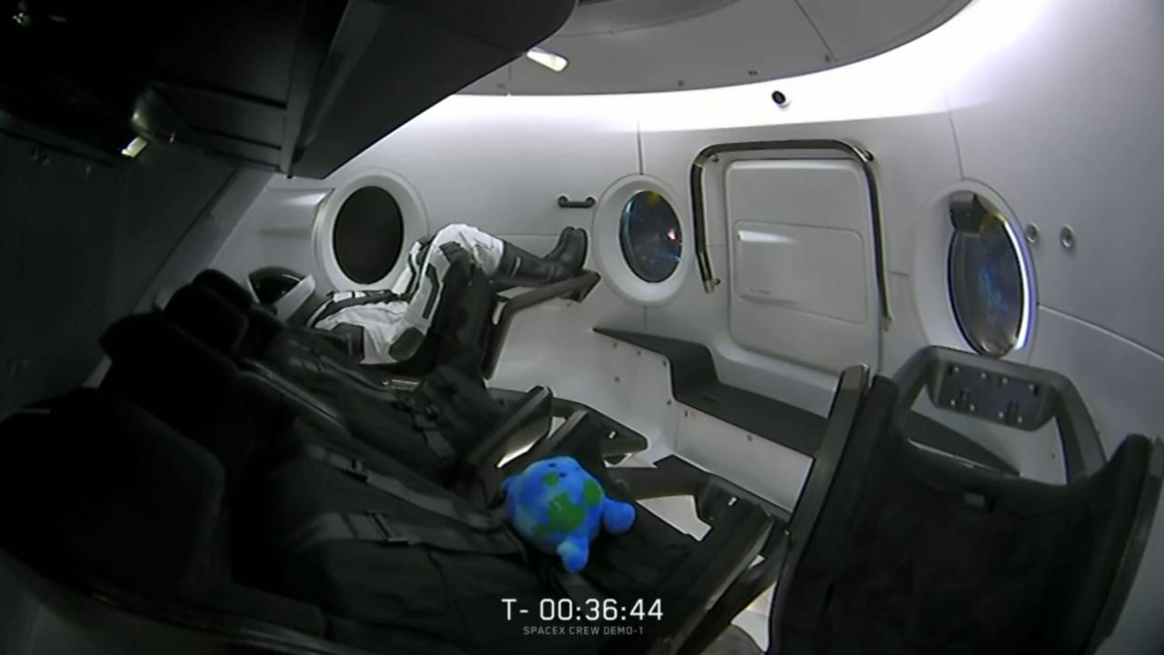 Az űrhajóban egy szenzorokkal felszerelt tesztbábu, Ripley ült. Elon Musk előszeretettel nyúl popkulturális alkotásokhoz, ha valaminek nevet kell adni a SpaceX űrprogramjában. A Falcon rakéták például a Star Wars Millenium Falcon űrhajójáról kapták nevüket, a cég két drónhajója, Just Read the Instructions és az Of Course I Still Love You Iain Banks sci-fi regényeiből kapták nevüket, Ripley pedig az Alien-filmek hősnője volt.