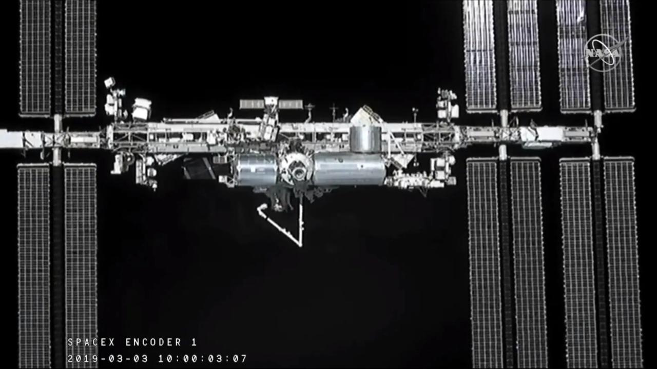 Így látta a Dragon az ISS-t ekkor.