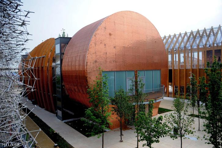 A magyar pavilon a milánói világkiállításon 2015. május 5-én.