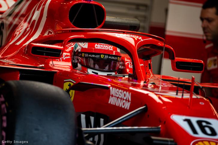 Charles Leclerc az Abu Dhabi Nagydíj utáni teszten 2018. november 28-án