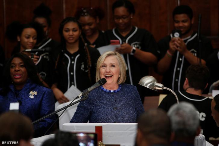 Hillary Clinton beszél a Brown Kápolnában, Alabamában 2019. március 3-án