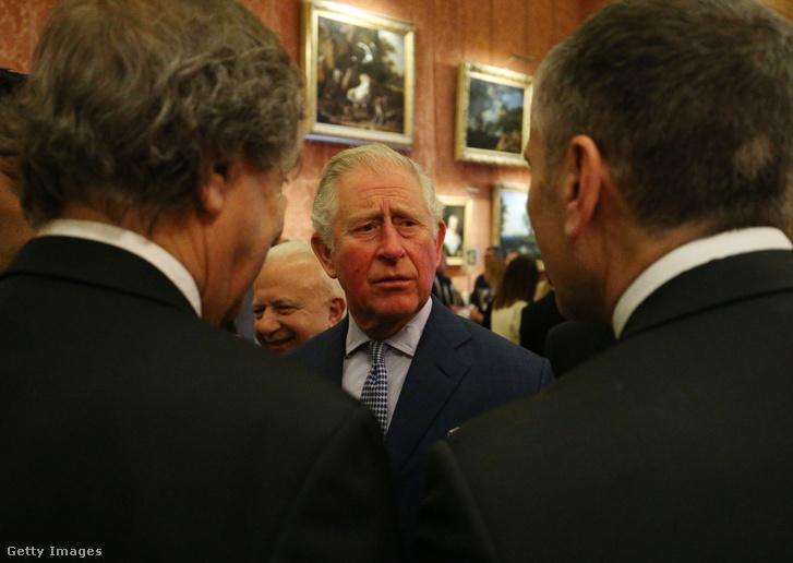 Károly herceg a Buckingham palotában 2019. március 4-én