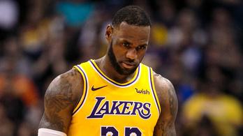 LeBron időnként önmaga paródiája, távolodik a rájátszástól a Lakers