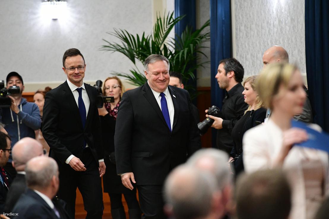 Szíjjártó Péter és Mike Pompeo találkozója Budapesten 2019. február 11-én