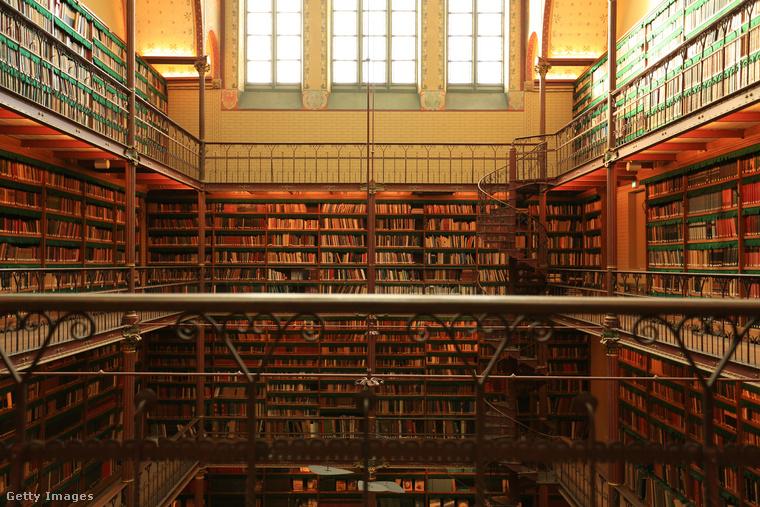 A Rijksmuseum könyvtára HollandiábanAz amszterdami Rijksmuseum könyvtárát 1885-ben alapították, és a legnagyobb művészettörténeti könyvtár a világon