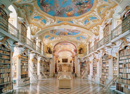 Stiftsbibliothek Admont AusztriábanA világ legnagyobb kolostorának könyvtára 1776-ban épült Admontban, ahol barokk és kortárs építészeti és művészeti emlékek és kéziratok találhatók