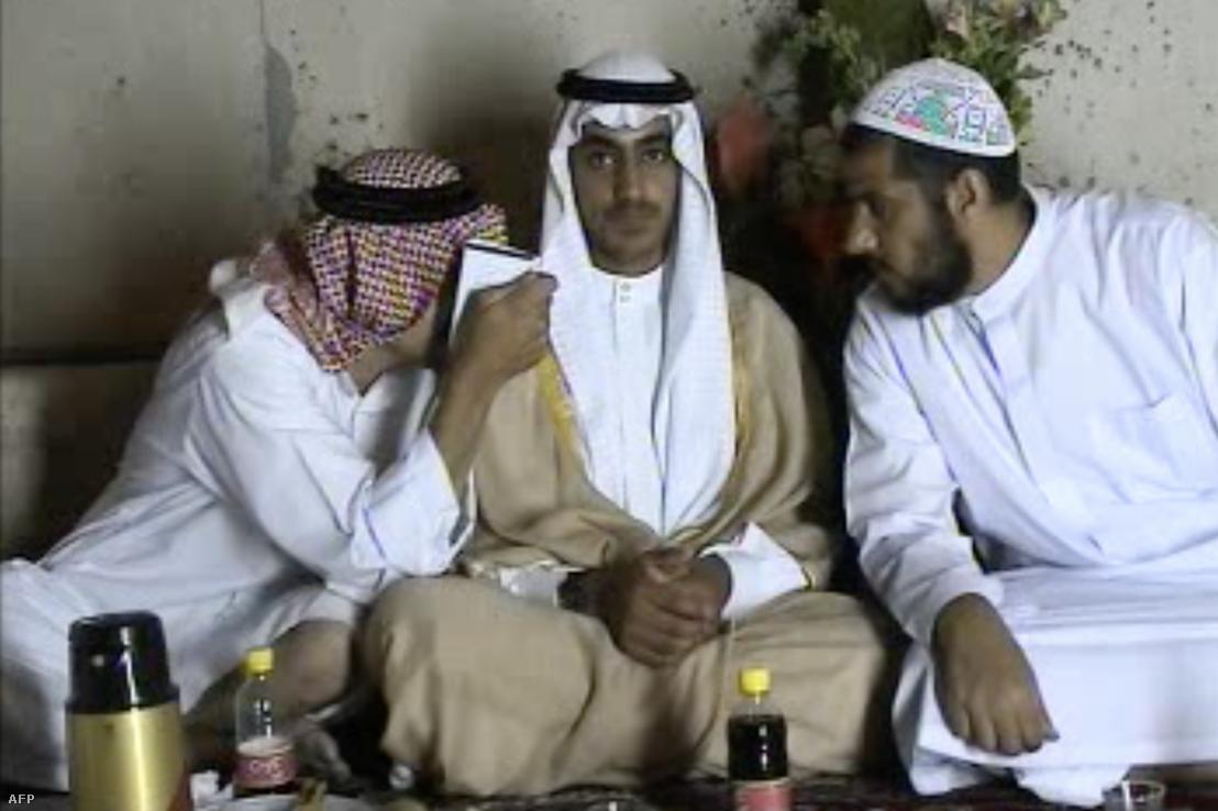 Képkocka a CIA 2017-ben kiadott felvételből, ami Osama bin Hamza esküvőjén készült