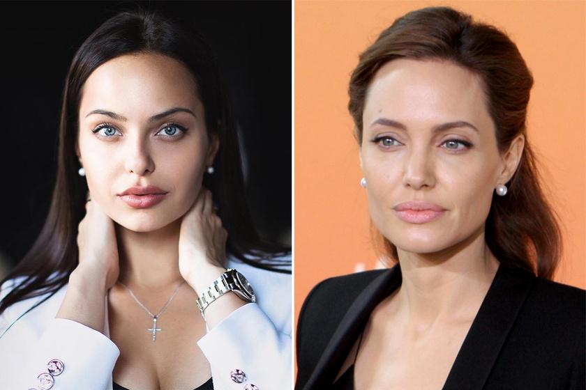 A 25 éves Regina Kova elképesztően hasonlít Angelina Jolie-ra. Szerencsés adottságait kiaknázva modellként dolgozik, és némi szájfeltöltéssel is rásegített a tökéletes összhatásra.