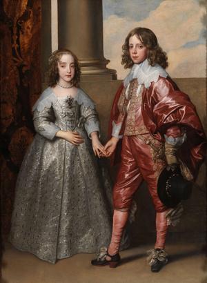 Orániai Vilmos herceg és Mária angol hercegnő menyegzői képe - Anthony van Dyck, 1641