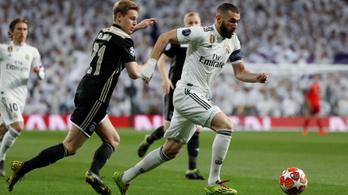 Real Madrid-Ajax és Dortmund-Tottenham a BL-negyeddöntőért