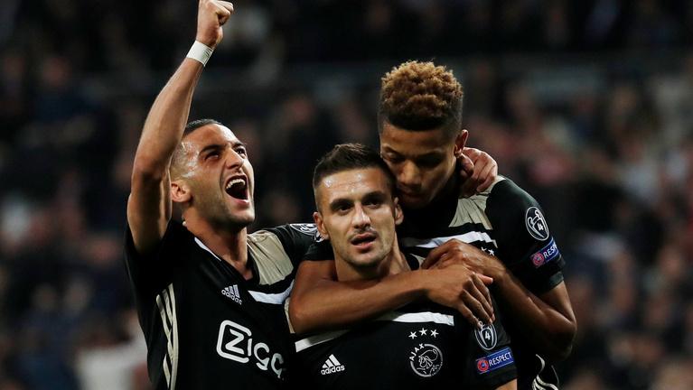 Az Ajax 4-1-es győzelmével kiejtette a Bajnokok Ligája-címvédő Real Madridot