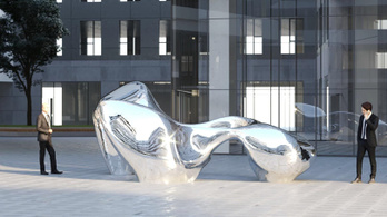 Egy nagy tükröződő izé nyert a józsefvárosi szoborpályázaton