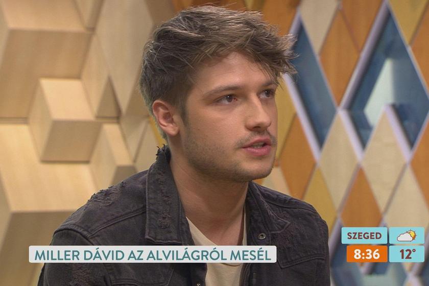 Ullmann Mónika és Miller Zoltán fiából, Dávidból jóképű pasi lett.