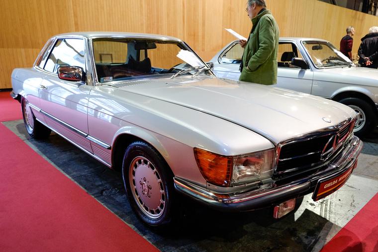 1978-ból származó 450 SLC, ami akkor a legnagyobb motorváltozatot jelentette - a V8 225 lóerőt tudott