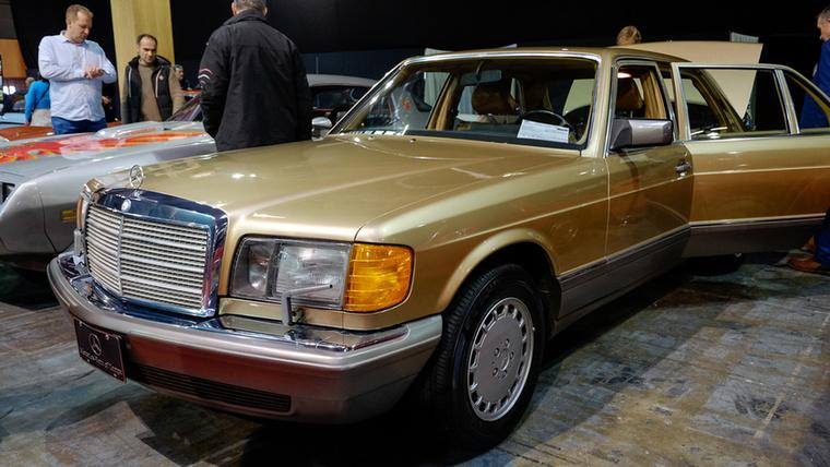 Amerikai kivitelű W126-ös, fura fényszóróval és hosszú lökhárítóval