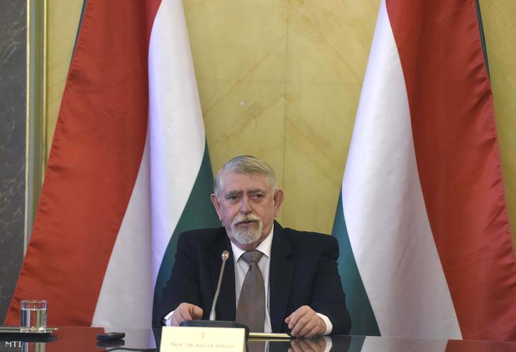 Kásler Miklós, az emberi erőforrások minisztere