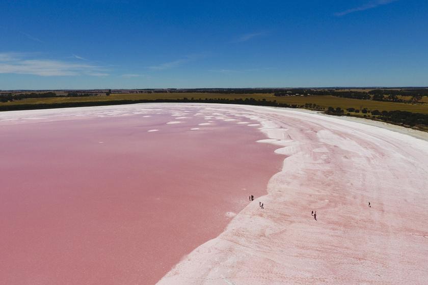Szürreális látványt kelt: mitől rózsaszín Ausztrália tava?