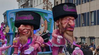 Antiszemita karikatúrák okoztak botrányt egy belga karneválon