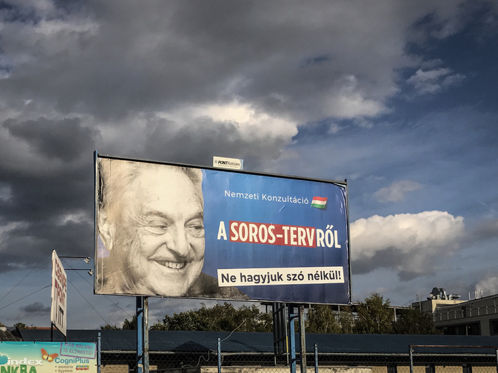 """National consultation on the Soros-plan. Let's not stay silent!"" Government campaign from late 2017."