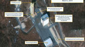 Trump csalódott lenne, ha beigazolódna, hogy Phenjan újraépíti a rakétakilövő állomását