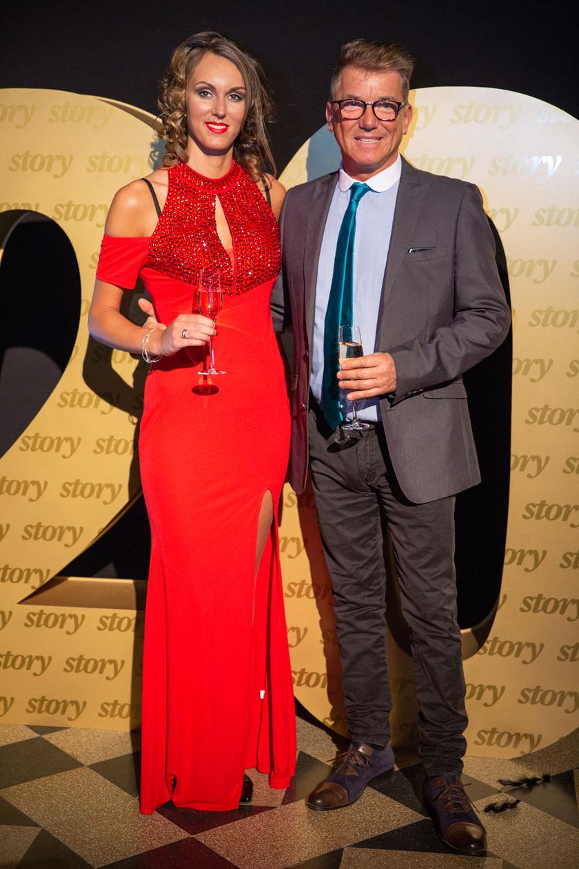 Delhusa Gjon és fiatalabb szerelme, Fanni februárban részt vettek a 20. Story-gálán.