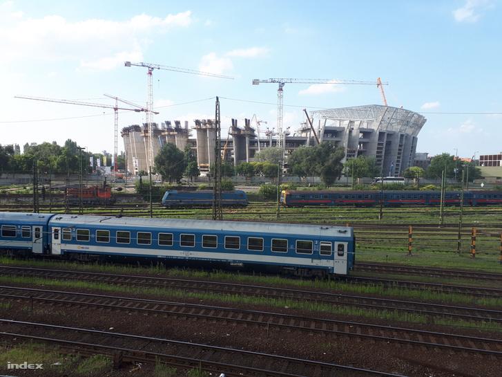 Az épülő, új Puskás-stadion