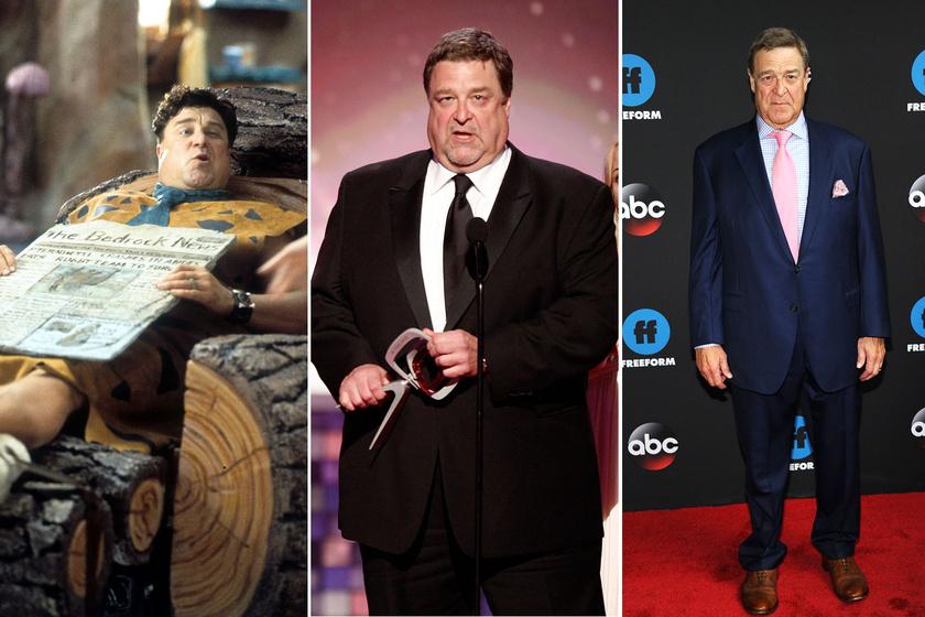 A Flintstone család Frédije, a 66 éves John Goodman 181 kilóról fogyott le, napjainkban 90 kilóval kevesebbet mutat a mérlege.