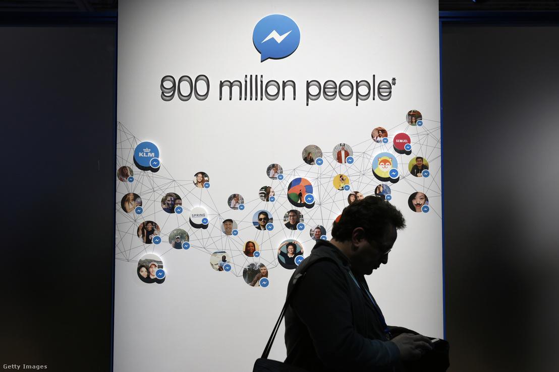 Facebook Messenger installáció a Facebook fejlesztői konferencián San Francisco-ban