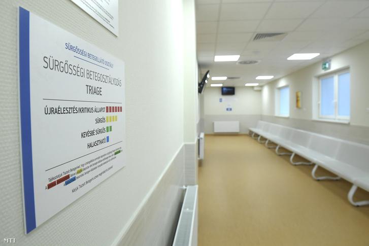 Váróterem a Jahn Ferenc Dél-pesti Kórházban