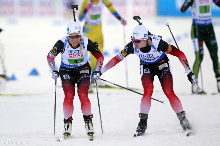 Marte Olsbu Röeiseland és Tiril Eckhoff