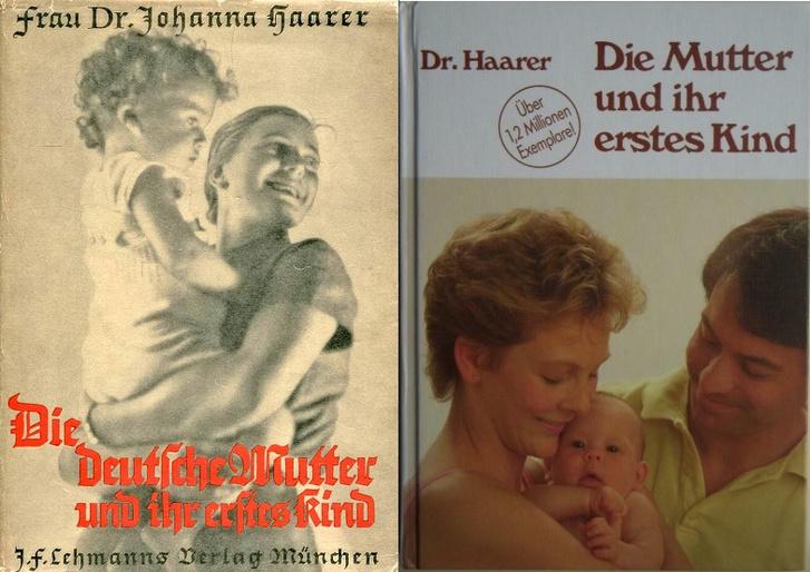 A német anya és első gyermeke 1940-es és 1987-es kiadása