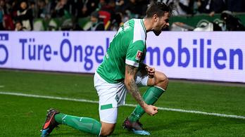 Hatgólos meccsen nyert a Werder