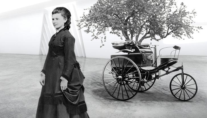 Az igazi Bertha Benz és az autó, amivel megtette az utat