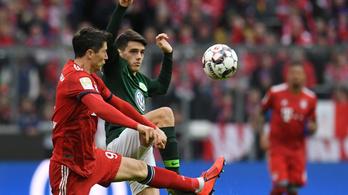 A Bayern 6-0-s KO-val ugrott a Bundesliga élére
