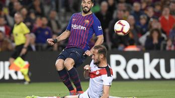 A Barcelona simán verte a kiesőjelöltet