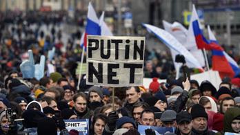 Több ezer orosz tüntetett azért, hogy Putyin ne kapcsolhassa le az internetet