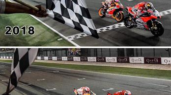 A történelem ismételte önmagát, de óvtak a MotoGP nyitófutamán