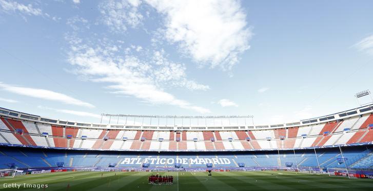 Az Atletico Madrid edzése az Estadio Vincente Calderonban 2017. május 9-én