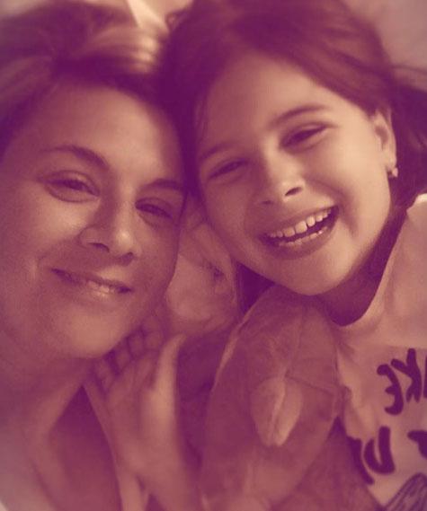 Ábel Anita és tízéves lánya, Luca le sem tagadhatnák egymást.