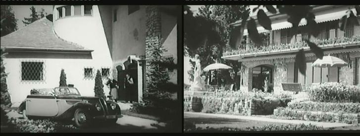 A Brázay-villa a Fény és árnyék című filmben, 1943-ban