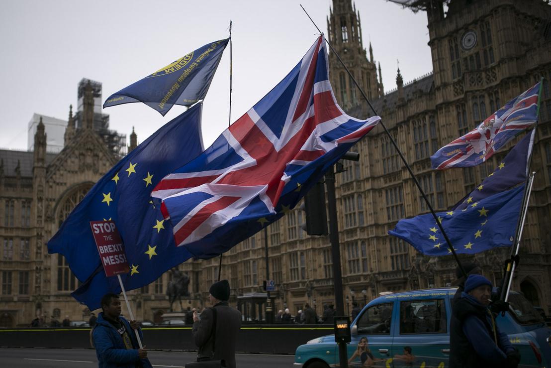 Brexit ellenes tiltakozók Londonban