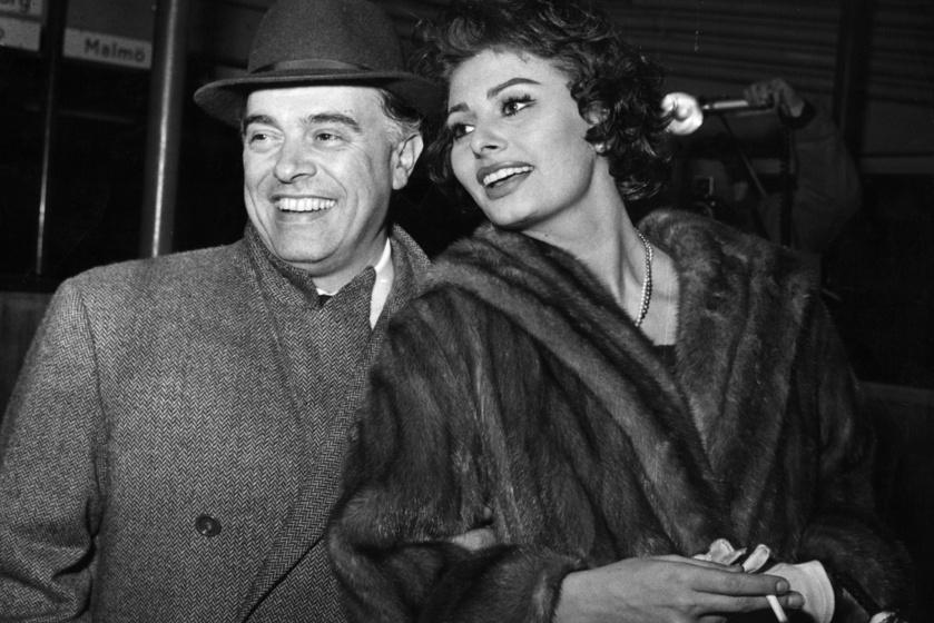 Sophia Loren és Carlo Ponti olasz filmproducer 1950-ben szerettek egymásba.