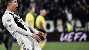 Hárommeccses eltiltást kaphat Ronaldo a BL-ben