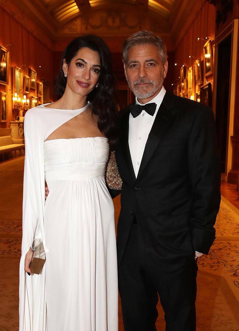 Amal Clooney lélegzetelállítóan gyönyörű volt az este.