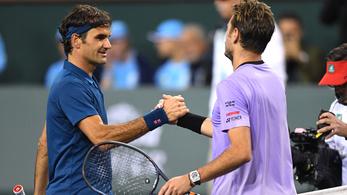 Kiestek a világelsők, Federer nyerte a svájci derbit Indian Wellsben