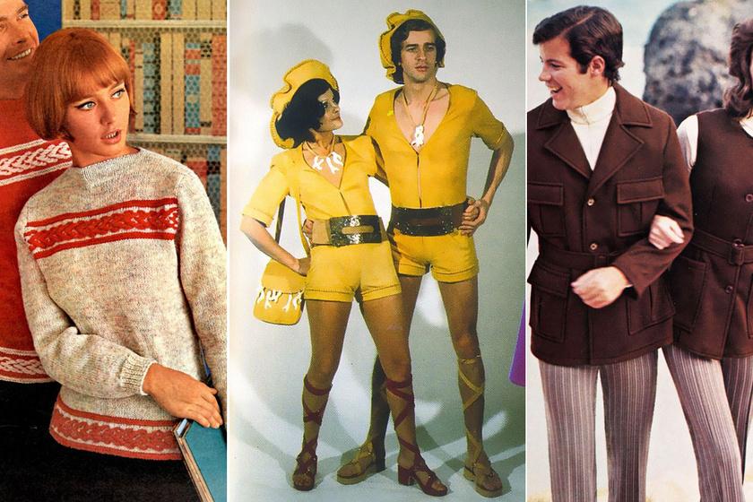 Tényleg jól néz ki, ha a férfi és a nő is sárga forrónacit visel? Brutális retro-szettek a 70-es évekből